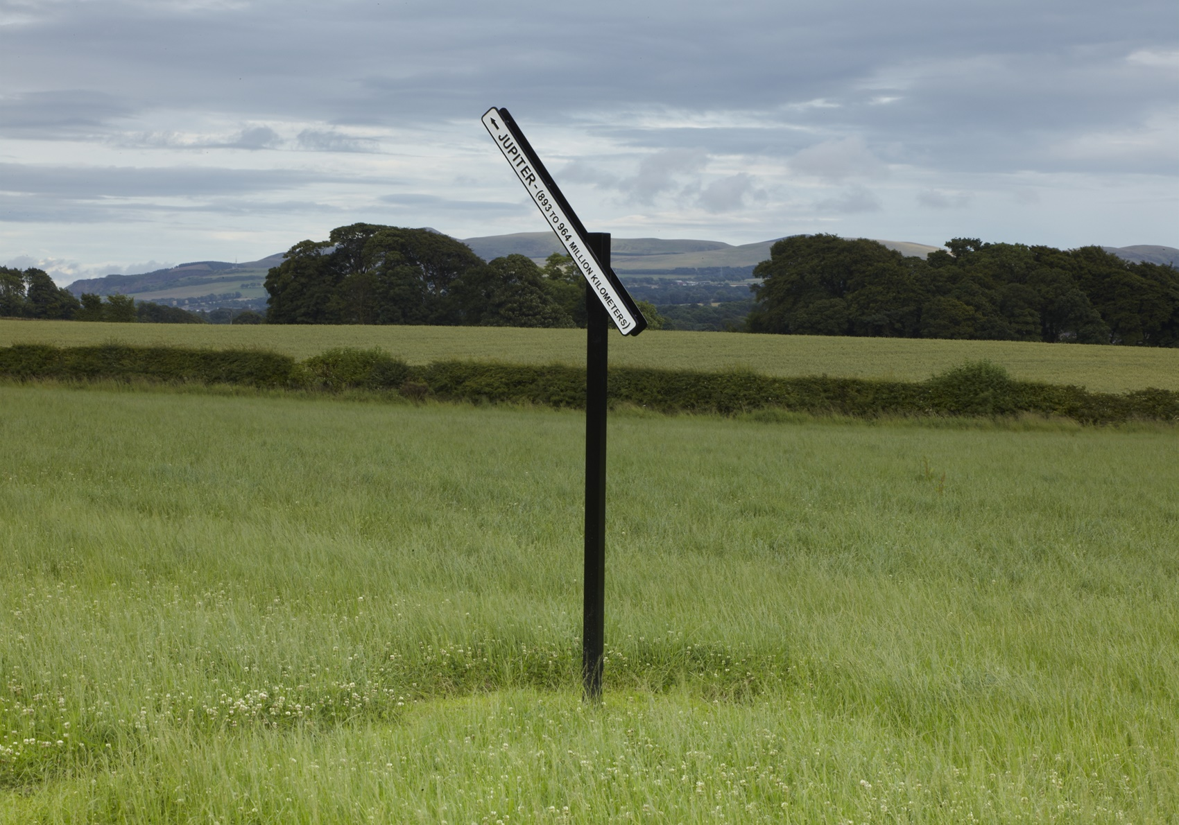 Peter Liversidge: Proposal 90, A Signpost To Jupiter