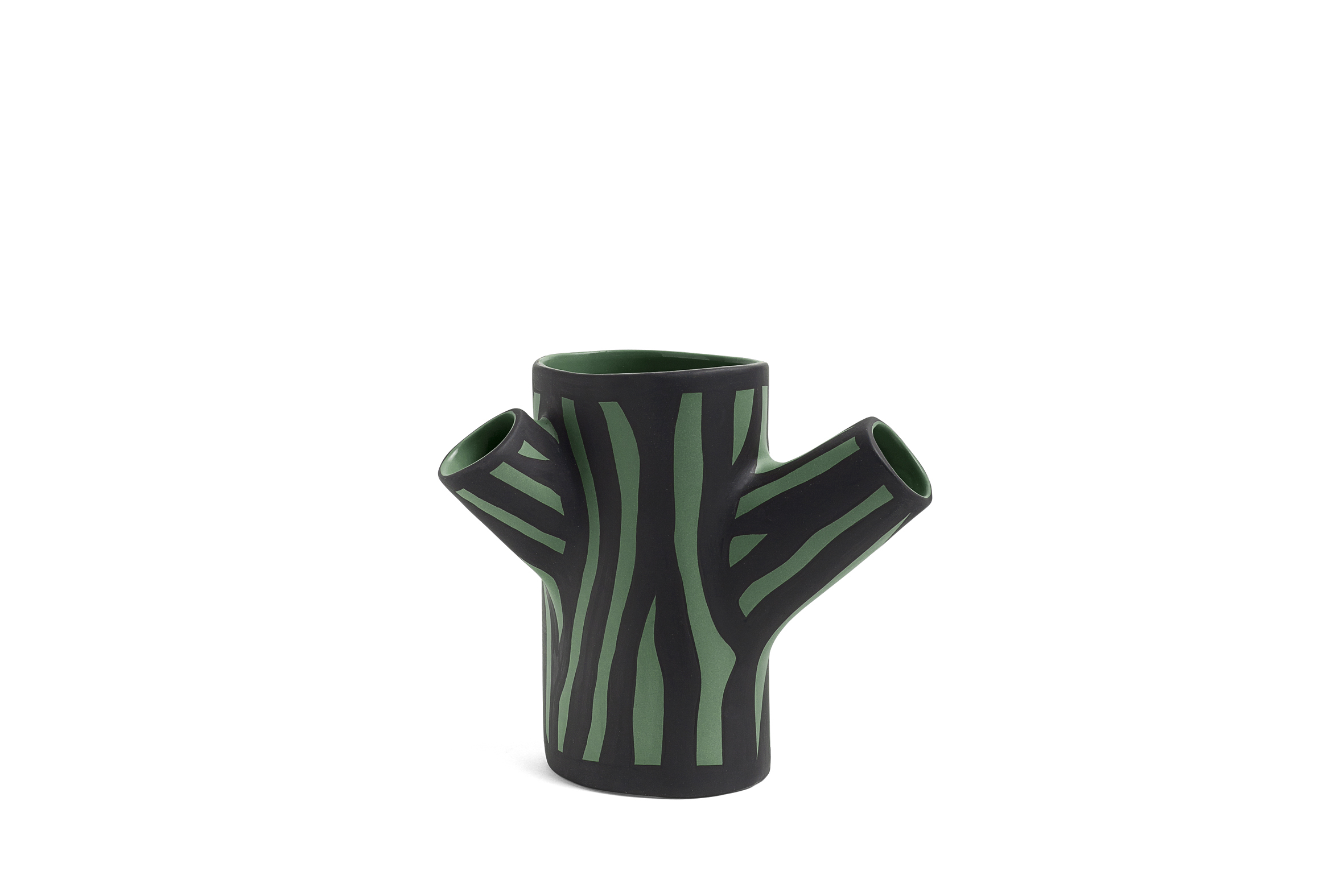 Tree Trunk Vase Dark Green