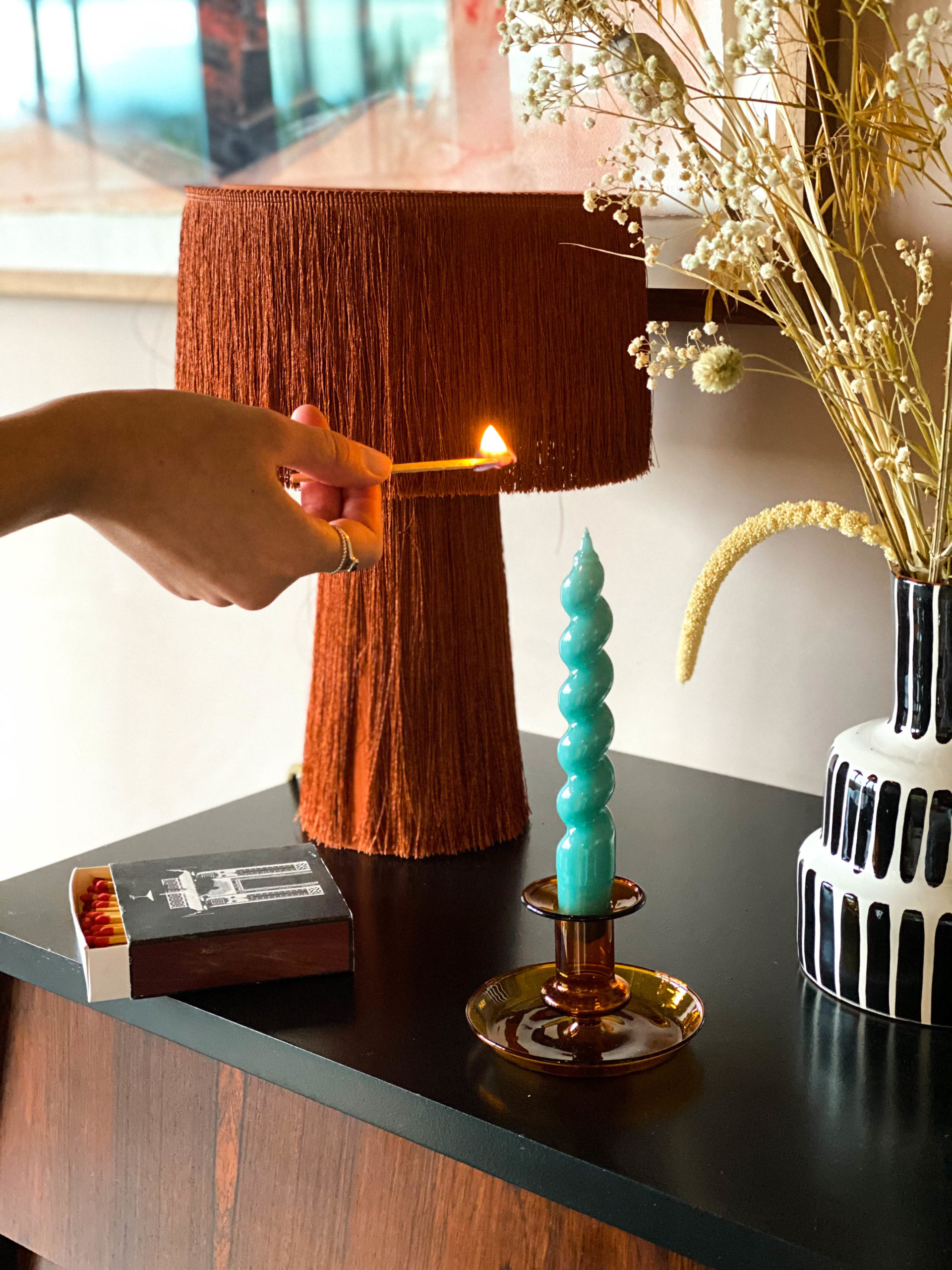Flare Candle Holder (Orange)