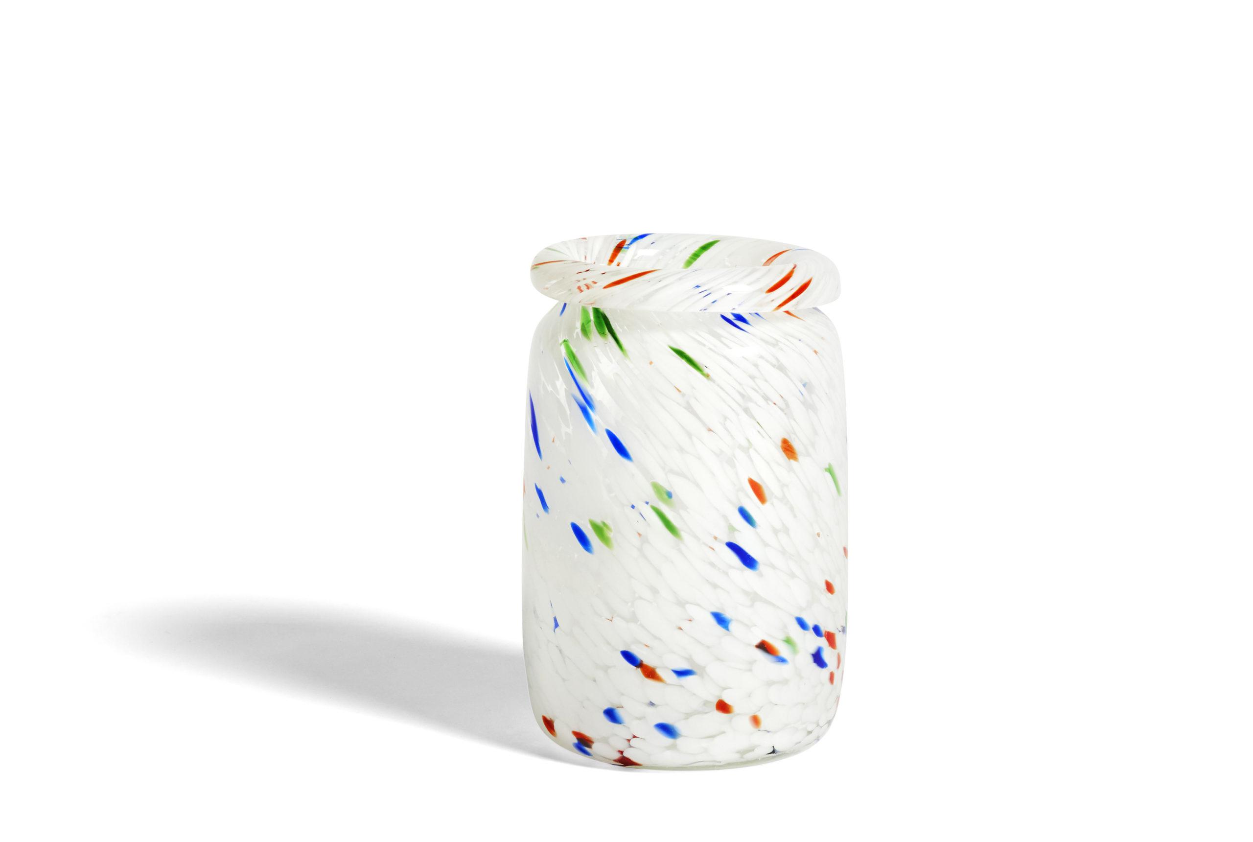 Splash Vase Roll Neck White Dot (Medium)